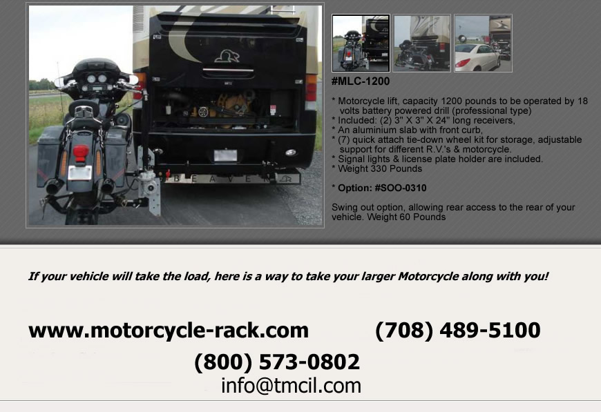 RV Motorcycle Lift